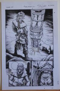 TIMOTHY TRUMAN original art, HAWKEN #2, Water boarding style, 11 x 17, 2011