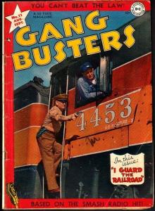 GANG BUSTERS #11-PHOTO COVER-RAILROAD COPS! VG