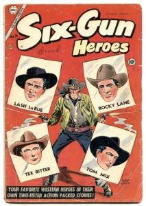 Six-Gun Heroes #29 1954- Lash Larue- Tex Ritter- Tom Mix G/VG