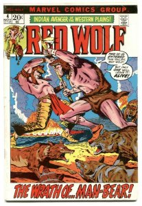 Red Wolf  #4 1972- Marvel bronze age comic VG-