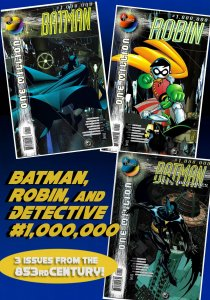 3 BATMAN-related Issues of DC ONE MILLION (Nov1998) Batman of the 853rd Century!