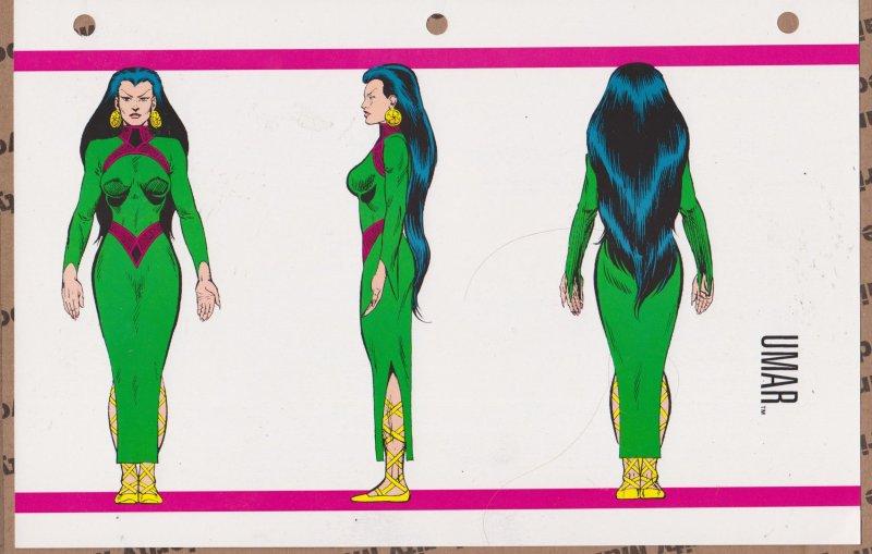 Official Handbook of the Marvel Universe Sheet- Umar
