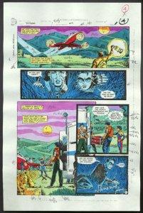 ROBIN #4-1990 PRODUCTION ART-COLOR GUIDE PG 4-TOM KYLE VG