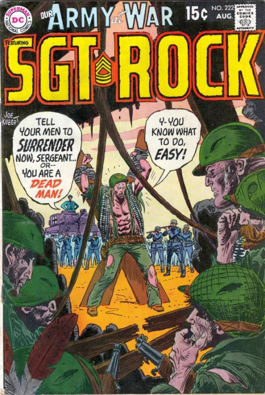 Our Army at War #222 (Aug-70) VF+ High-Grade Easy Company, Sgt. Rock