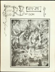 ERB-Dom #6 1963-TARZAN/ Edgar Rice Burroughs Fanzine FN/VF