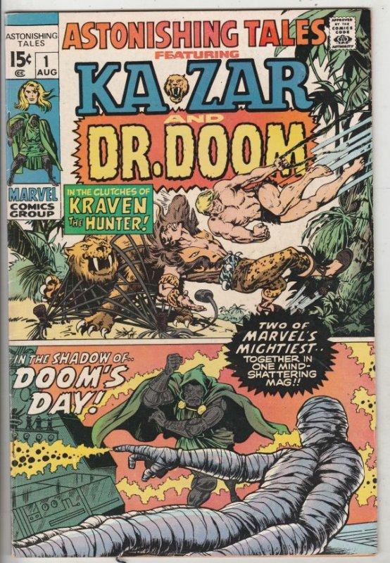Astonishing Tales #1 (Aug-70) VF High-Grade Ka-Zar, Doctor Doom