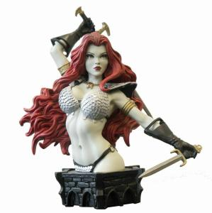 Women Of Dynamite Red Sonja Bust by Adams B&W Variant Ltd Edition #263/299 New!