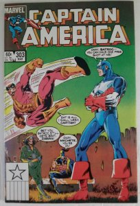 CAPTAIN AMERICA #303 Marvel Comics ID#MBX2
