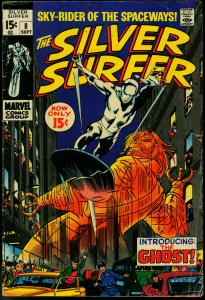 Silver Surfer #8 1969- Marvel Comics- Ghost appearance G/VG