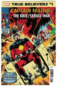 True Believers Captain Marvel Kree Skrull War #1 Reprint Avengers #89 (2019) NM