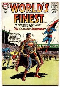 WORLDS FINEST #140 comic book 1964-CLAYFACE-BATMAN-SUPERMAN