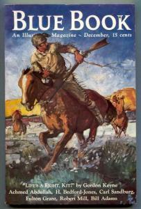 Blue Book Pulp December 1936- Kit Carson- Sandburg