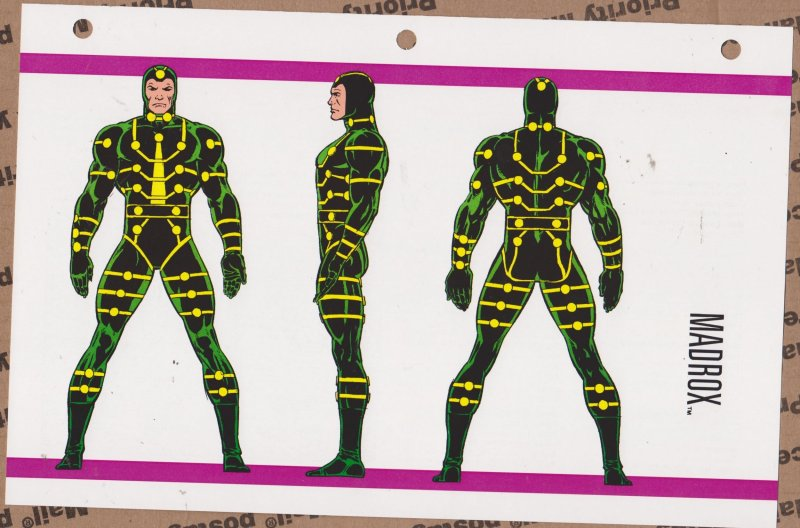 Official Handbook of the Marvel Universe Sheet - Madrox
