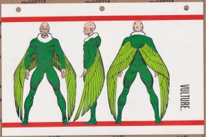 Official Handbook of the Marvel Universe Sheet- Vulture