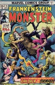 Frankenstein (The Monster Of…) #18 VG; Marvel | low grade comic - save on shippi