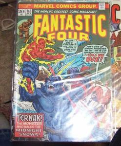 Fantastic Four #145 (Apr 1974, Marvel) inhumans medusa +ternak