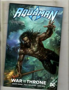 Aquaman War For The Throne DC Comics TPB Graphic Novel Comic Book Geo Johns J337