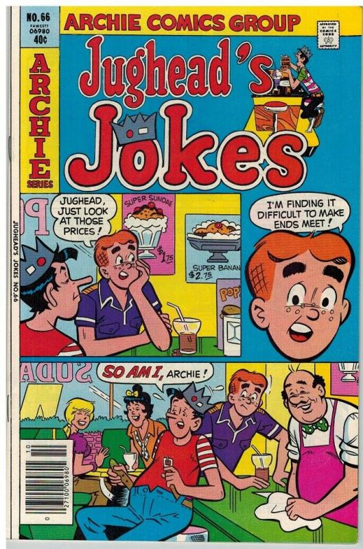 JUGHEADS JOKES (1967-1982) 66 VF Oct. 1979