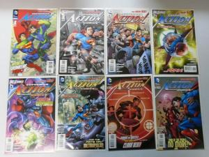Superman Action Comics Lot (2nd Series) New 52 From:#1-52+Ann, 43 Diff 8.5/VF+