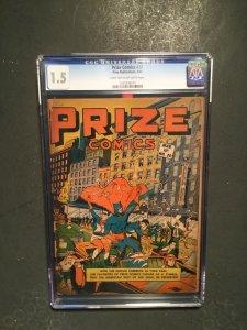 Prize Comics #20 CGC 1.5 FR/G 1942 prize publications BLACK OWL frankenstein
