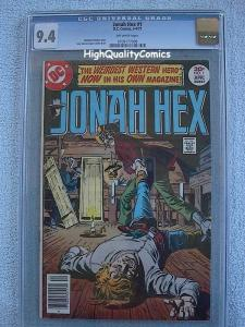JONAH HEX #1, Westen, CGC = 9.4, NM,1977, Guns, Outlaw, more CGC in store