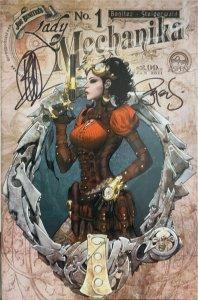 LADY MECHANIKA #1 BENITEZ VARIANT COLOR&SKETCH SET & 2nd PRINT COVER SIGNED COA