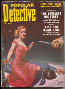 Popular Detective 5/1952-Thrilling-hardboiled crime pulp-terror-Alexander-VG+