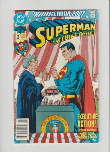 Action Comics Annual #3 FVF (1991, DC Comics) Hard To Find Newsstand Variant!
