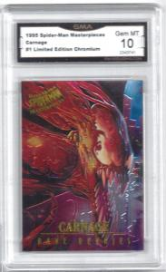 1995 Spider-Man Masterpieces Carnage #1 Limited Edition Chromium - Graded Gem 10