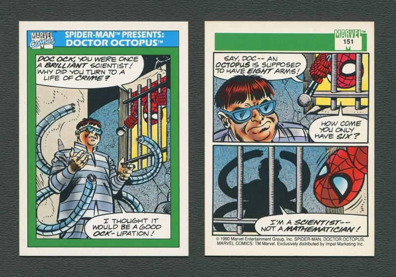 1990 Marvel Comics Card  #151 (Spiderman Presents: Dr Ock) / MINT