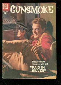 GUNSMOKE #6 1958-DELL COMICS-JAMES ARNESS TV PHOTO COVR G/VG