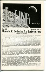 Luna #63  1976-original mailing envelope-sc-fi zine-VF