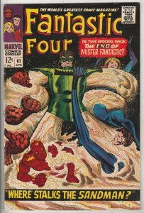 Fantastic Four #61 (Apr-67) VF/NM High-Grade Fantastic Four, Mr. Fantastic (R...