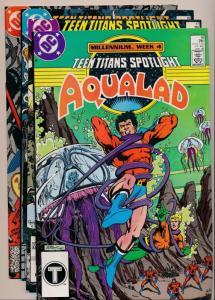 DC Comics Lot of 4 - TEEN TITANS Spotlight #10,11,12,13 ~ VF (PF314)