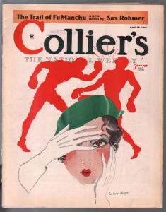Collier's 4/28/1934- WWII era-pulp fiction-SaxRohmer-Fu Manchu-FN