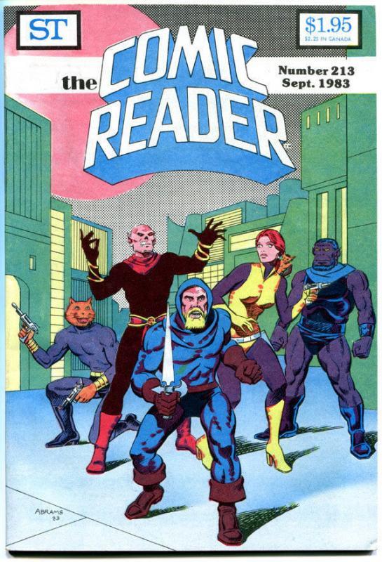 COMIC READER #213, VF+, Dreadstar, Paul Abrams, Fanzine,1983, more in store