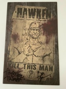 HAWKEN #1 1:10 TIMOTHY TRUMAN VARIANT COVER SIGNED EDITION IDW NM.