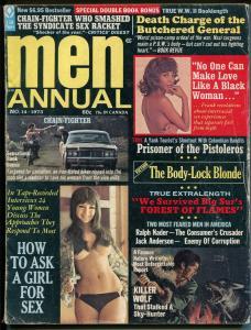 Men  Annual #14 1973-Atlas-motorcycle gangs-crime-terror-spicy pulp thrills-VG