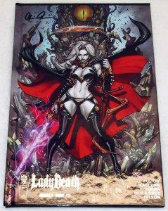 Lady Death Unholy Ruin #1 Silver Foil Hardcover Edition Signed w/COA (NM)