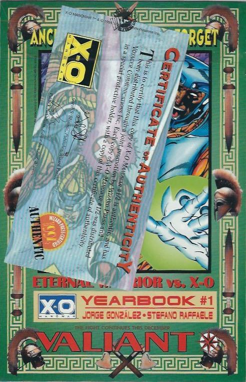X-O MANOWAR 1/2 WIZARD NM 5.99 WITH CERTIFICATE