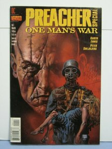 Preacher: One Man's War #1 (DC Vertigo Comics, March 1998) SIGNED Glenn Fabry