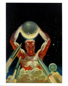 Lawrence Sterne Stevens Black Sun Pulp Cover Print- Super Science 1/49