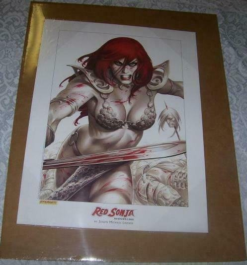 RED SONJA poster / print by Joseph Linsner, 2005, unused, ready for a frame