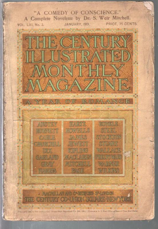 Century Illustrated Monthly 1/1901-Maxfield Parrish-early issue-pulp format-pulp