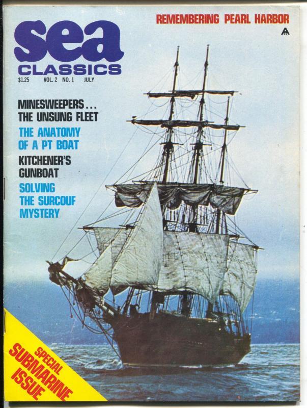 Sea Classics 7/1969-Challenge-submarine issue-PT Boats-Pearl Harbor ...
