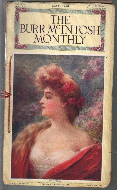 Burr McIntosh Monthly 5/1908-William Jennings Bryant-Mabel Taliaferro-VG