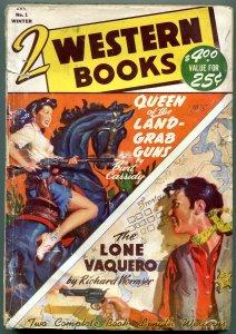 Two Western Books Pulp #1 Winter 1948- Lone Vaquero G