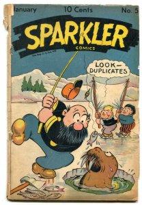 Sparkler Comics #51 1946- Tarzan- Walrus cover F/G