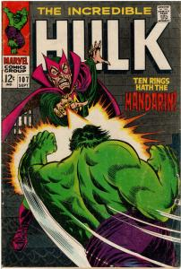 Hulk #107 - 4.0 or Better - Mandarin Appearance (Sep 1968)
