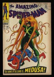 Amazing Spider-Man #62 FN 6.0 Medusa!